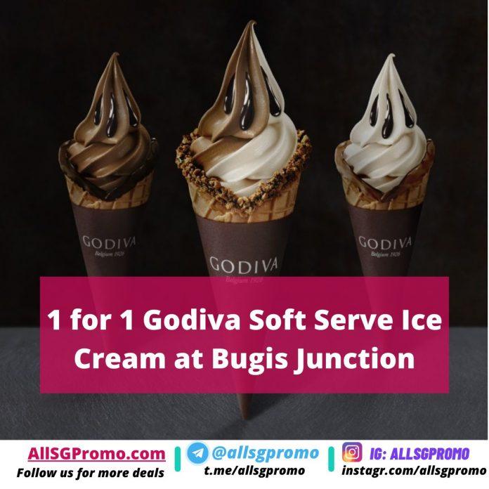 1 for 1 godiva soft serve