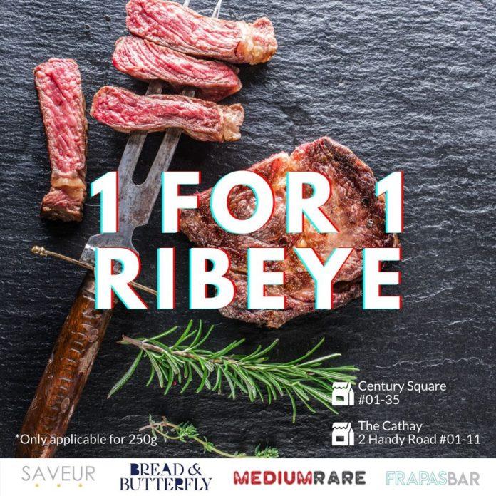 1 for 1 ribeye promotion