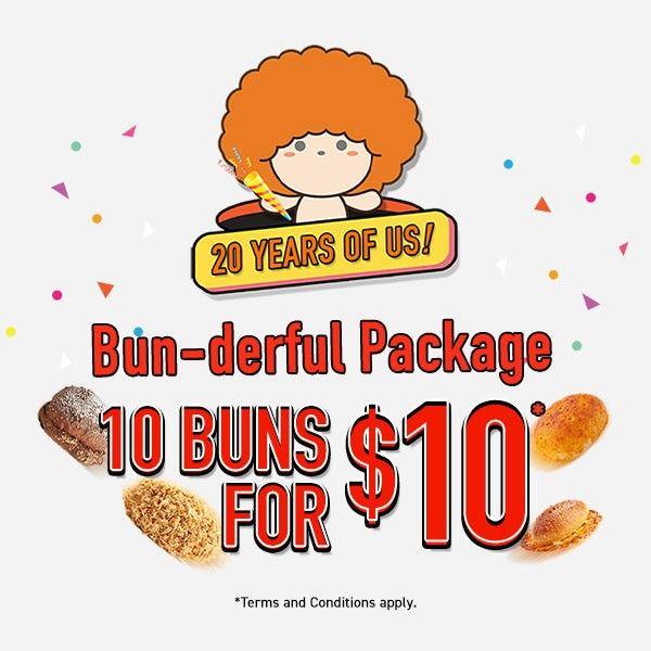 10 buns for 10 breadtalk promotion