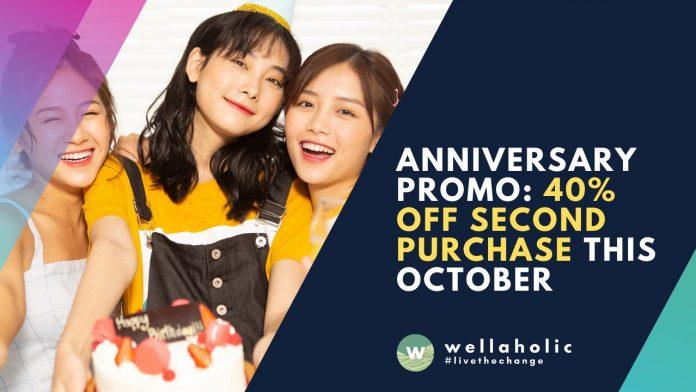 Anniversary Promo percent off second purchase
