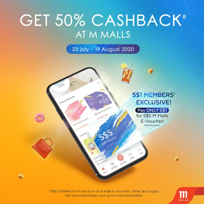 50 cashback at AMK Hub and Jurong Point