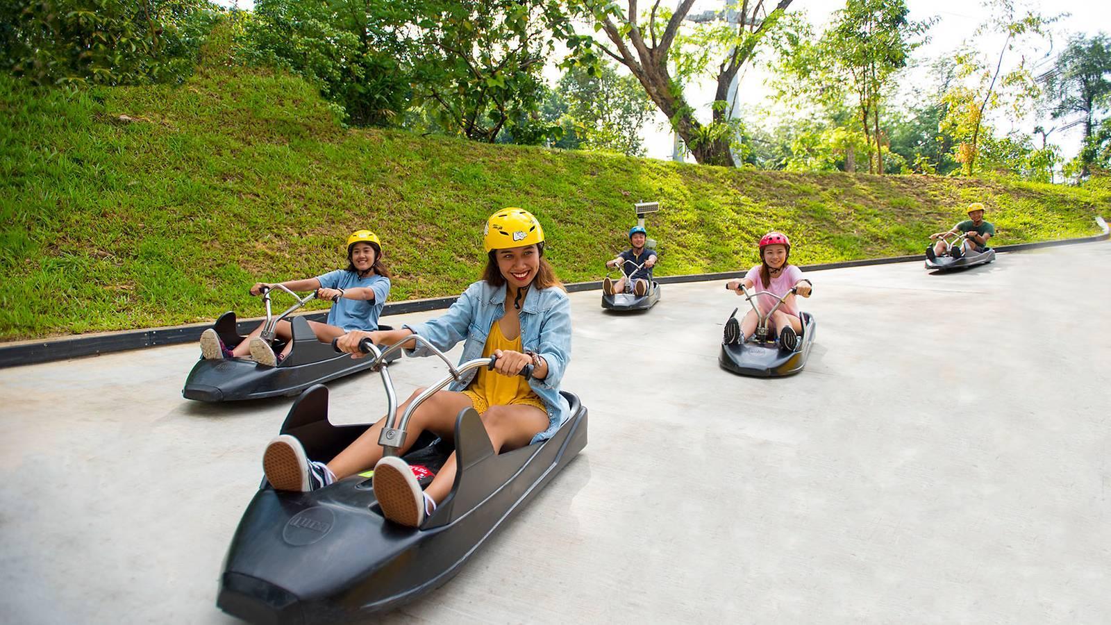 Free rides at Skyline Luge Sentosa