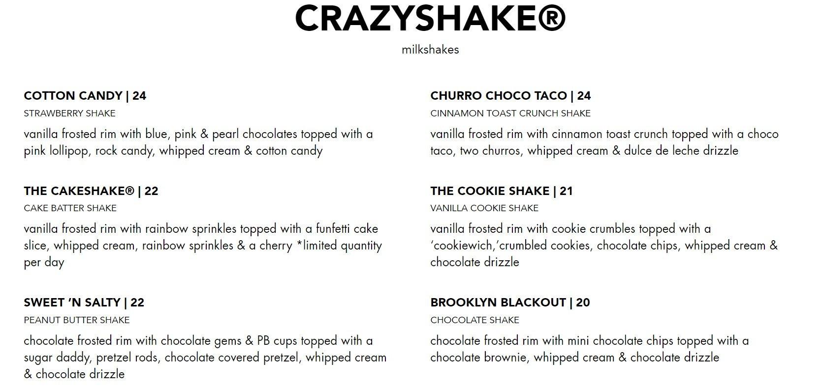 Blacktap Menu Crazyshake 1