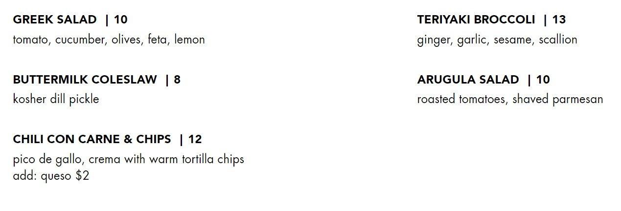 Blacktap Menu Snacks and Sides 2