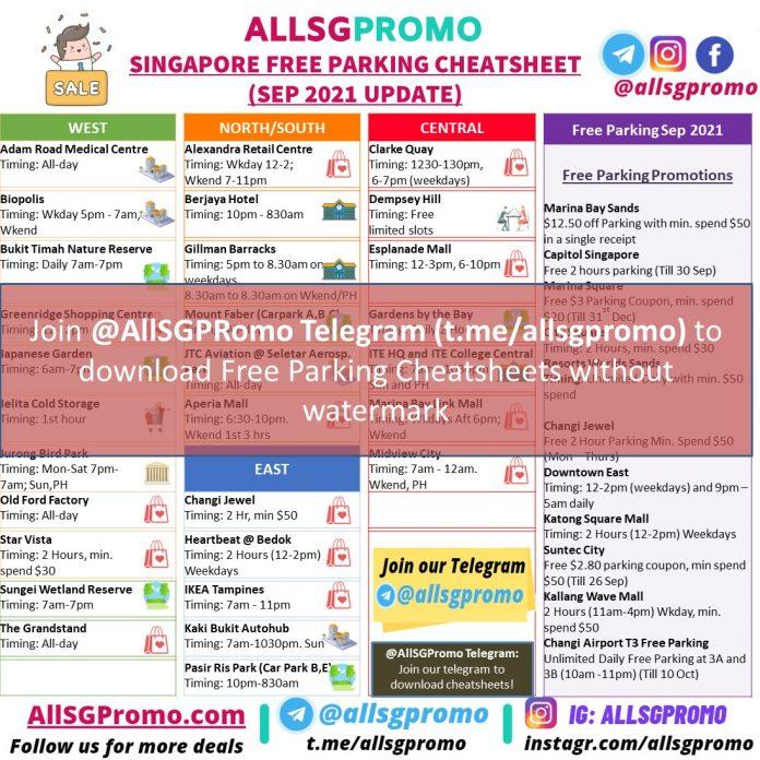 Free Parking Singapore Sep Update Watermark