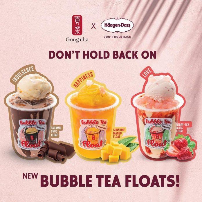 Gong Cha Haagen Dazs bubble tea