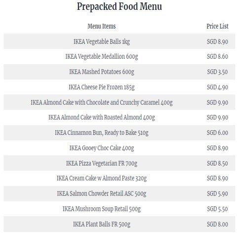 Ikea Singapore Menu: Ikea Singapore Menu & Prices (2021)