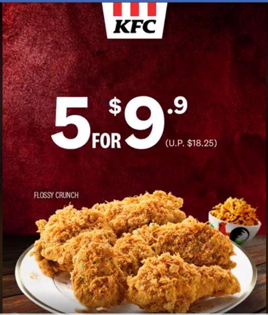 KFC 5 for 9.9 promotion
