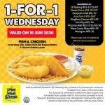Long John Silver-Fish and Chicken Combo, 1-for-1 Promotion