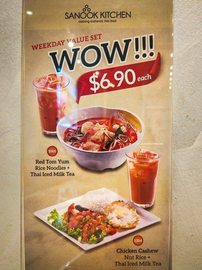 Sanook Kitchen Set Lunch menu