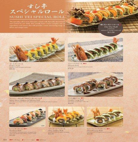 Sushi Tei GrandMenu
