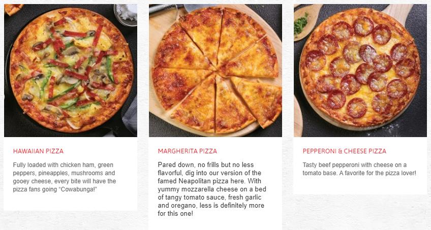 Swensens Menu Pizza