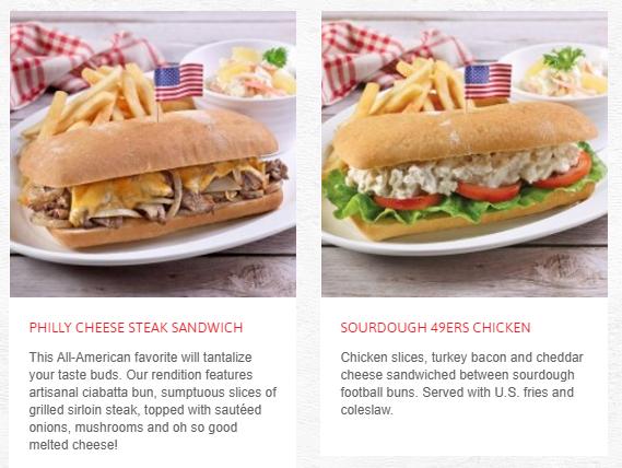 Swensens Menu Sourdough and Sandwiches