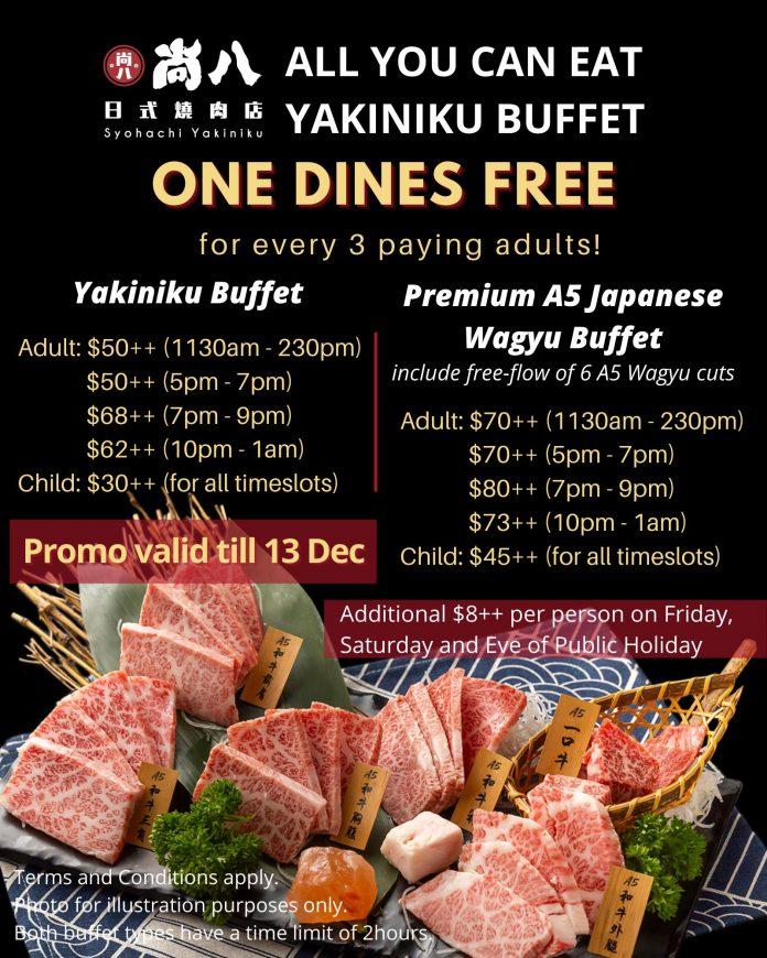 Syohachi Yakiniku Promotion buffet