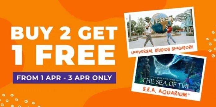 Universal Studio Singapore Promotion buy 2 free 1. promo