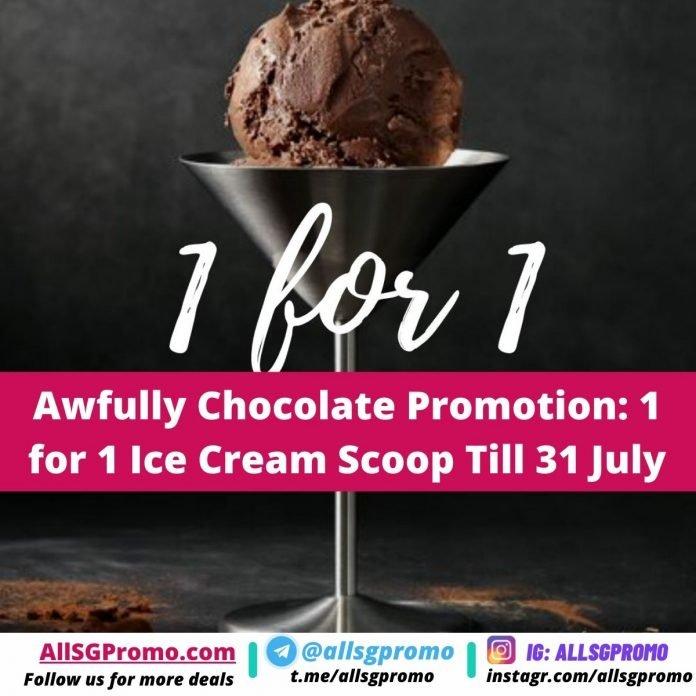 awfully chocolate ice cream promotion