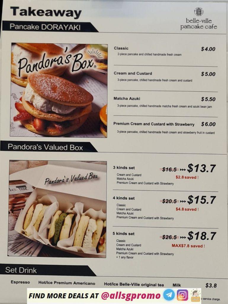 belle ville pancake cafe menu