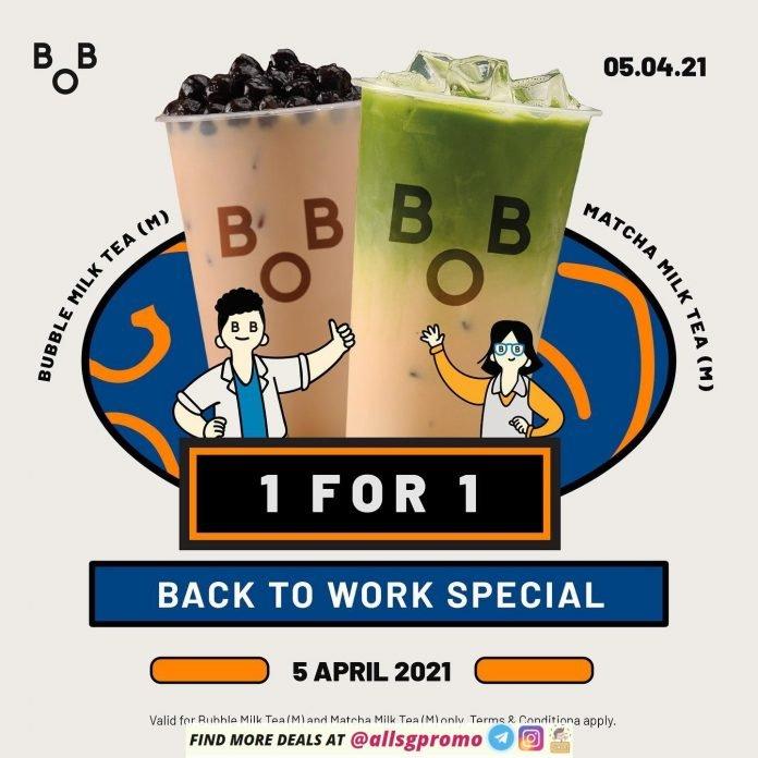 bober tea 1 for 1 promotion