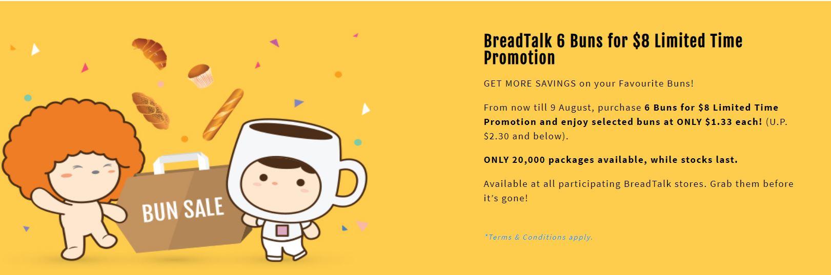 breadtalk promotion 6 buns for 8 - 2