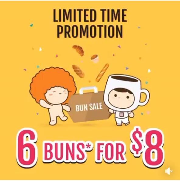 breadtalk promotion 6 buns for 8