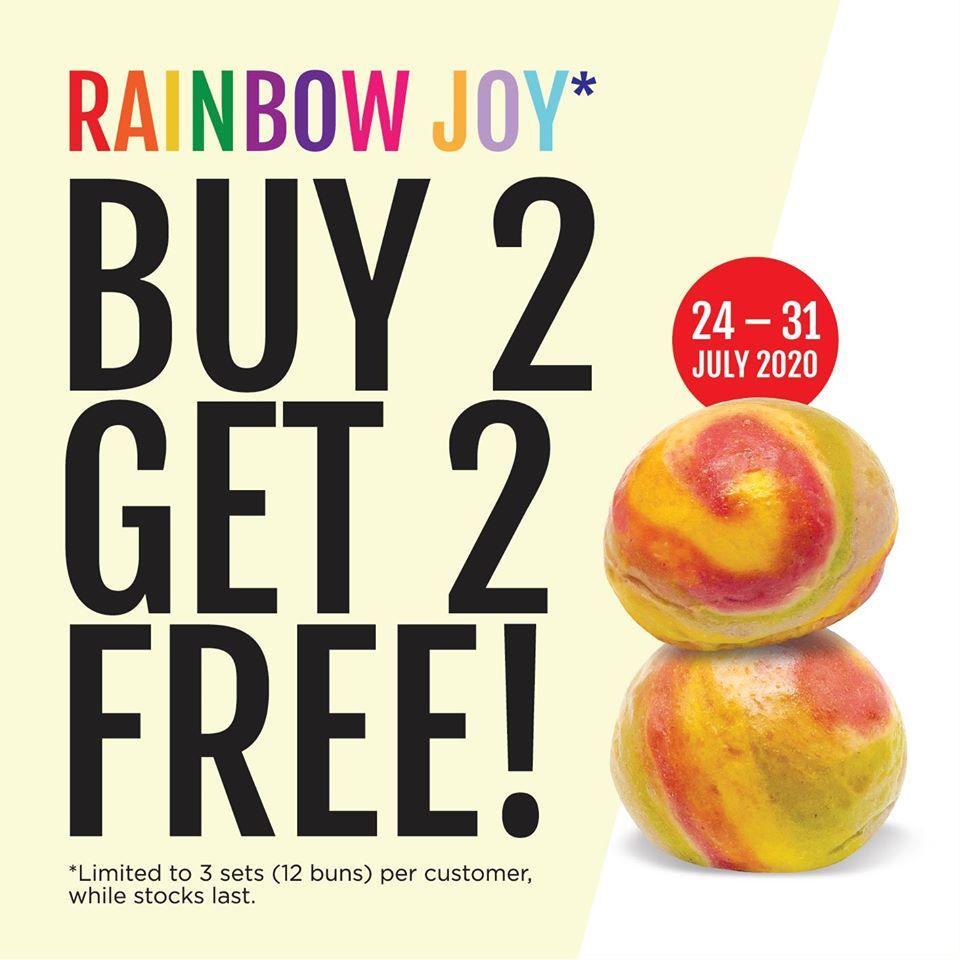 breadtalk promotion buy 2 get 2 rainbow joy bun