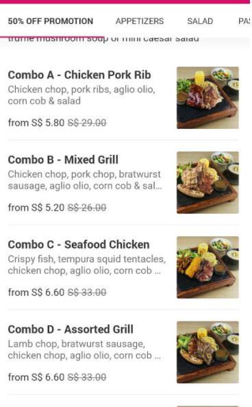 collin grille foodpanda promotion 2