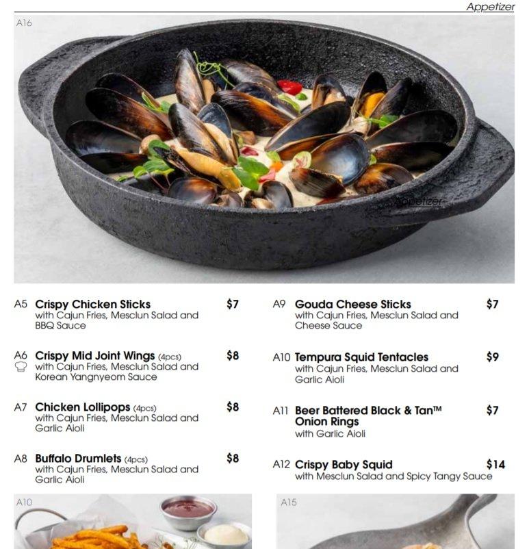 collins menu in store