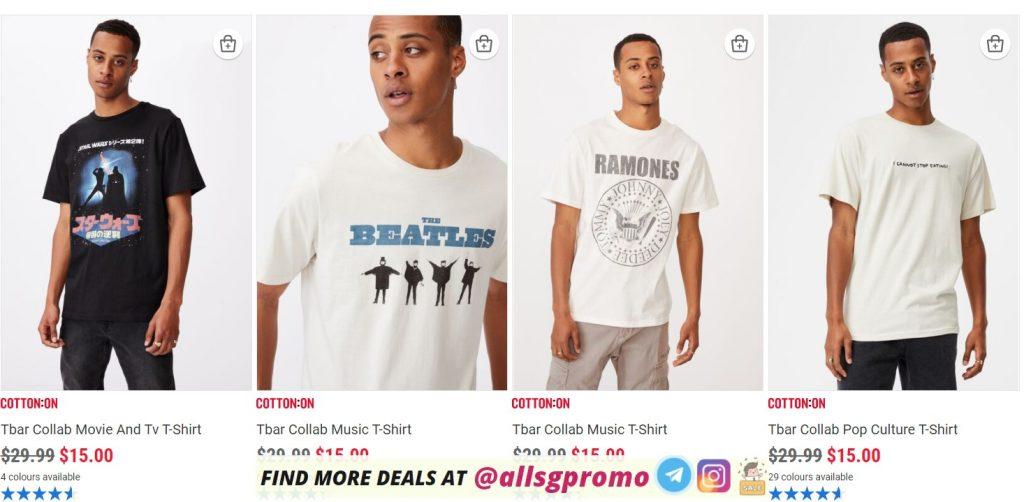 cotton on promotion sales men t shirts