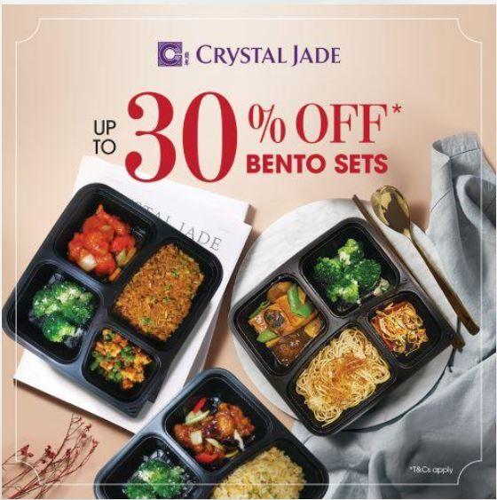 crystal jade 30 off promotion bento