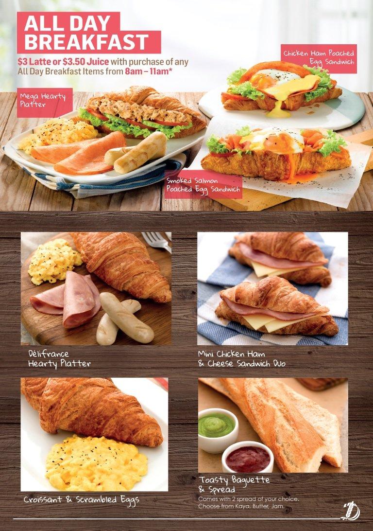 delifrance breakfast menu