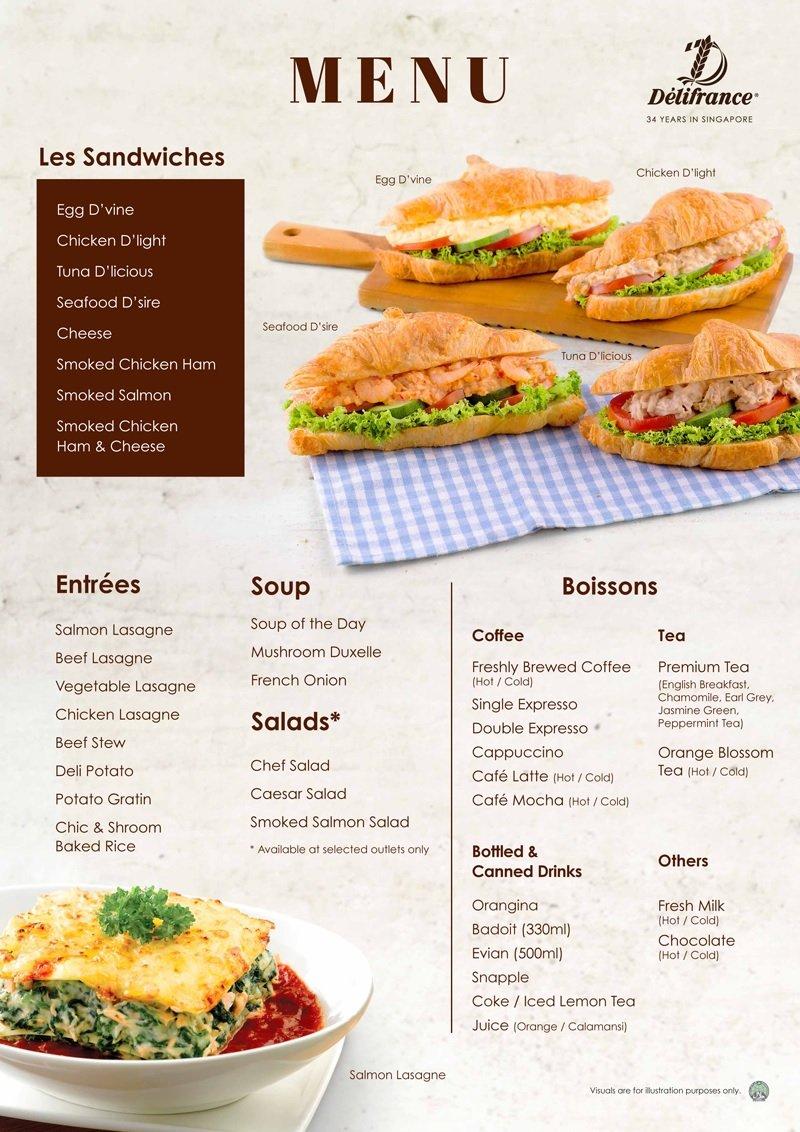 delifrance menu singapore