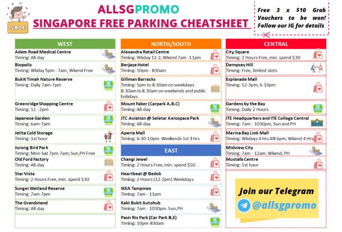 free parking singapore