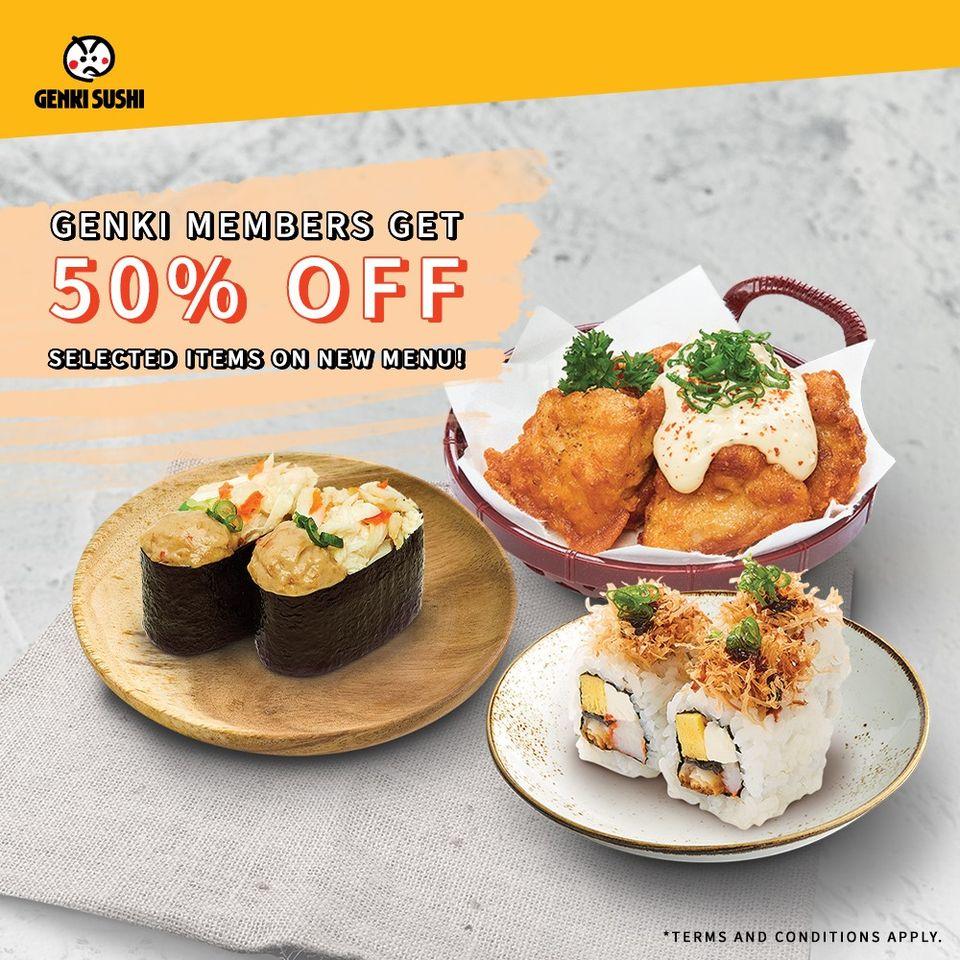 genki sushi promotion 50 off