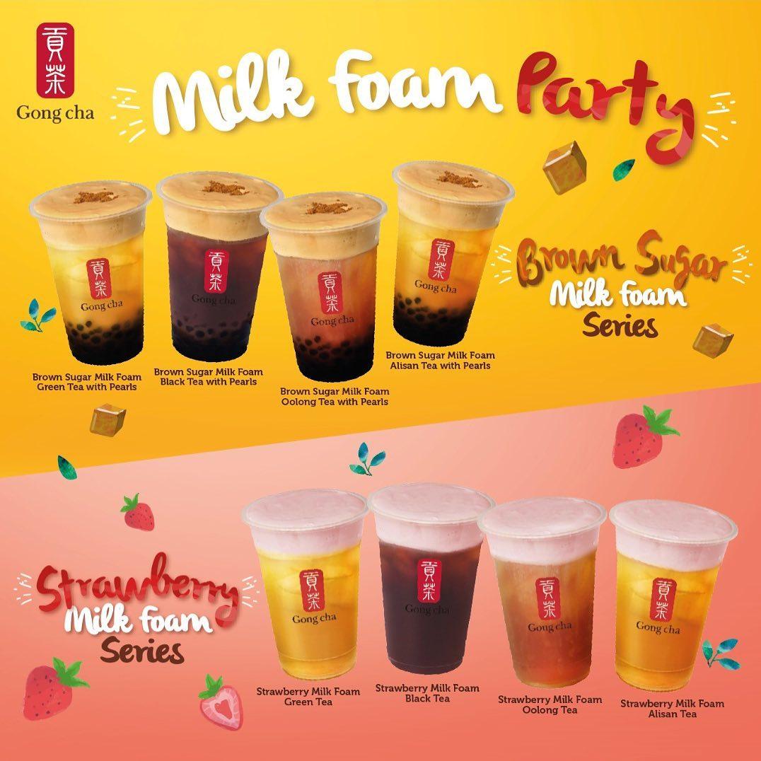 gong cha milk foam series