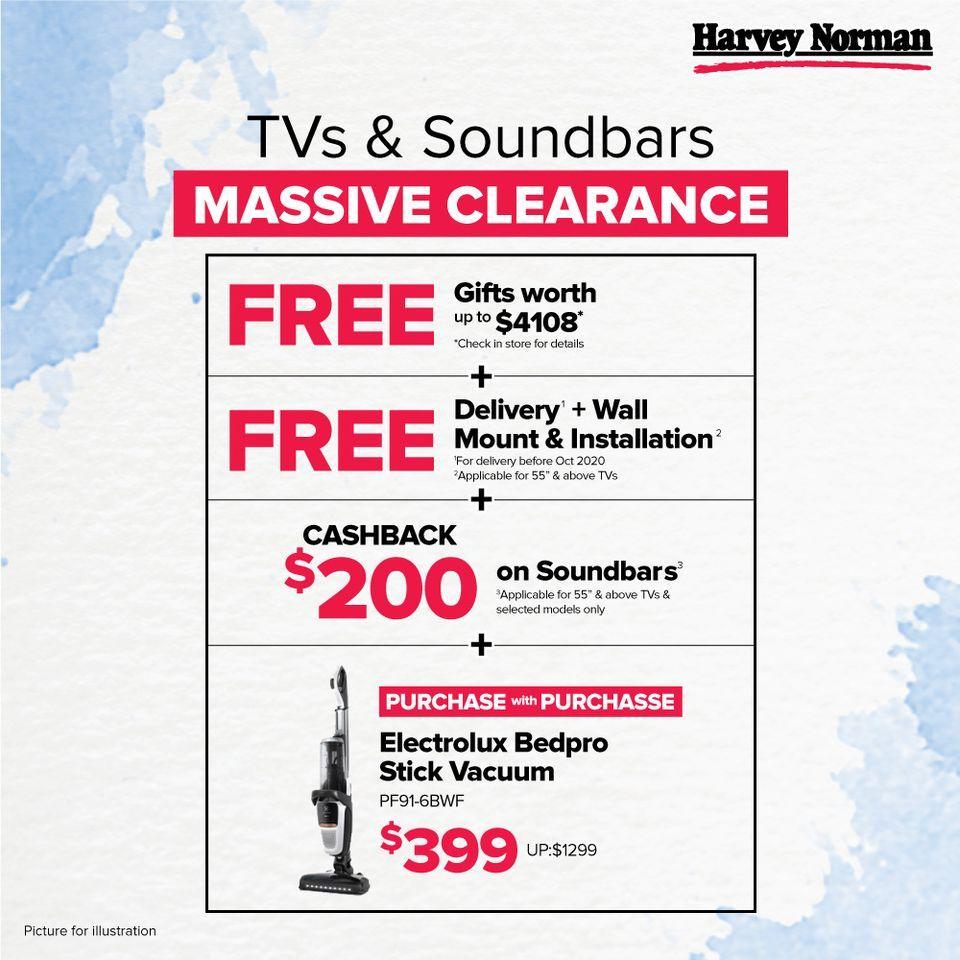 harvey norman soundbar warehouse sales