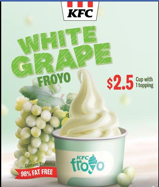 kfc white grapes froyo