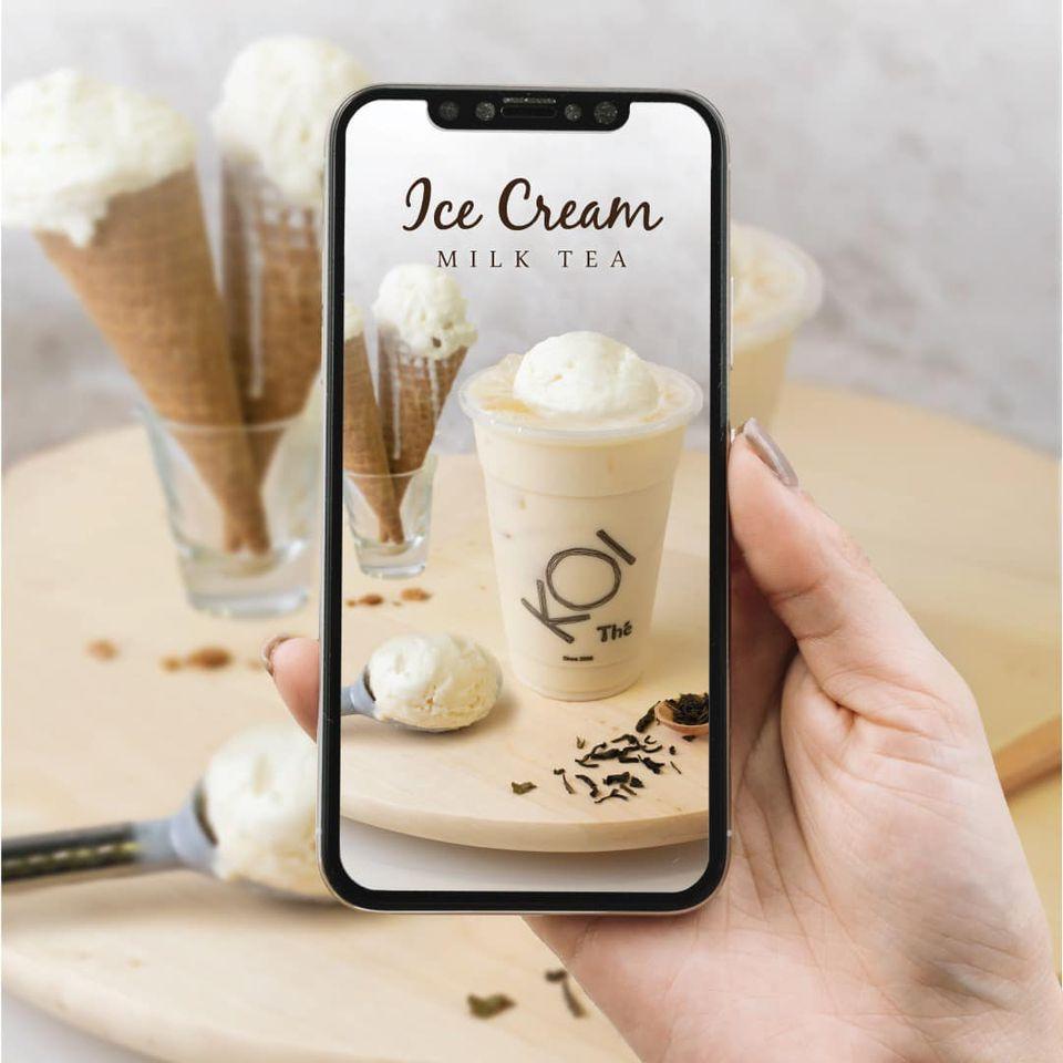 koi vanilla milk tea ice cream