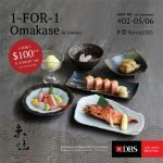 kyoaji 1 for 1 omakase promotion