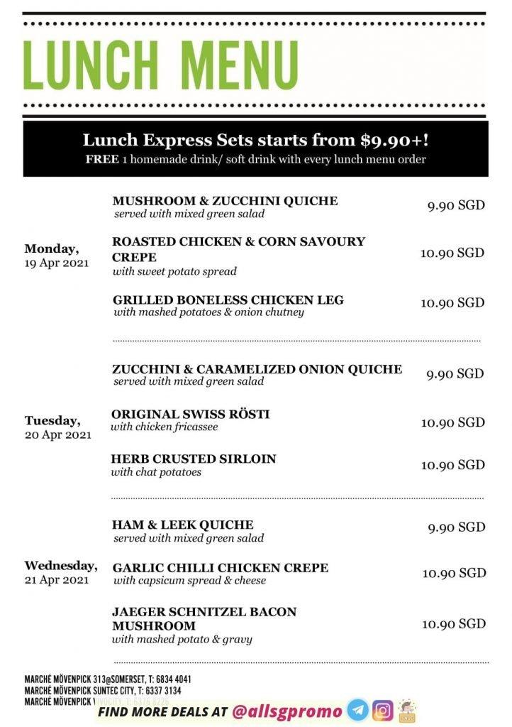 marche menu lunch April