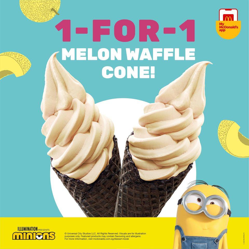 mcdonald 1 for 1 melon waffle