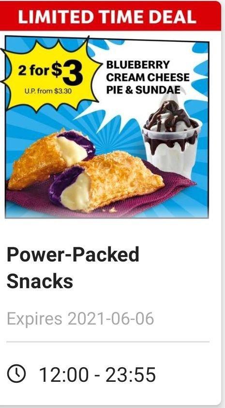 mcdonald promo blueberry cheese