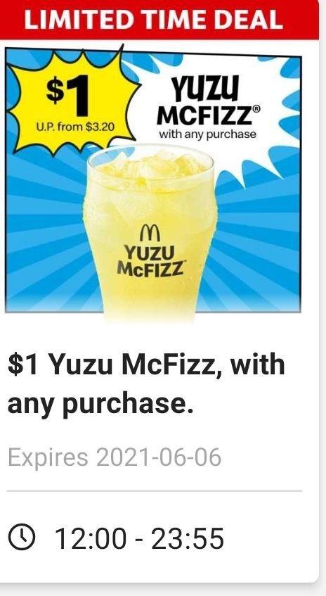 mcdonald promo yuzu