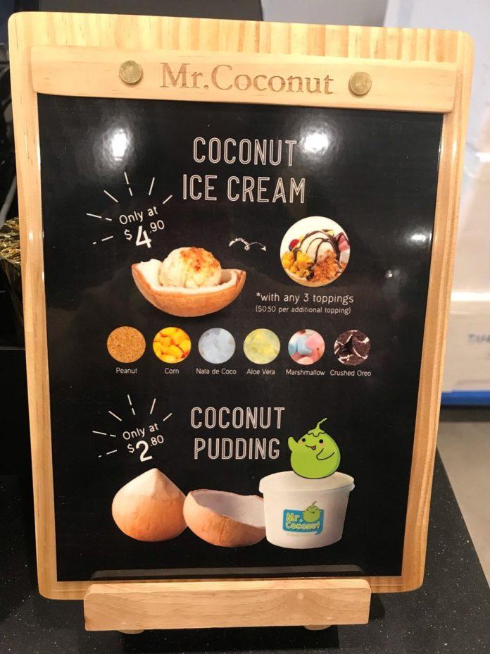 mr coconut menu flavor