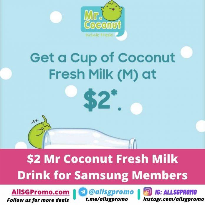 mr coconut promotion samsung