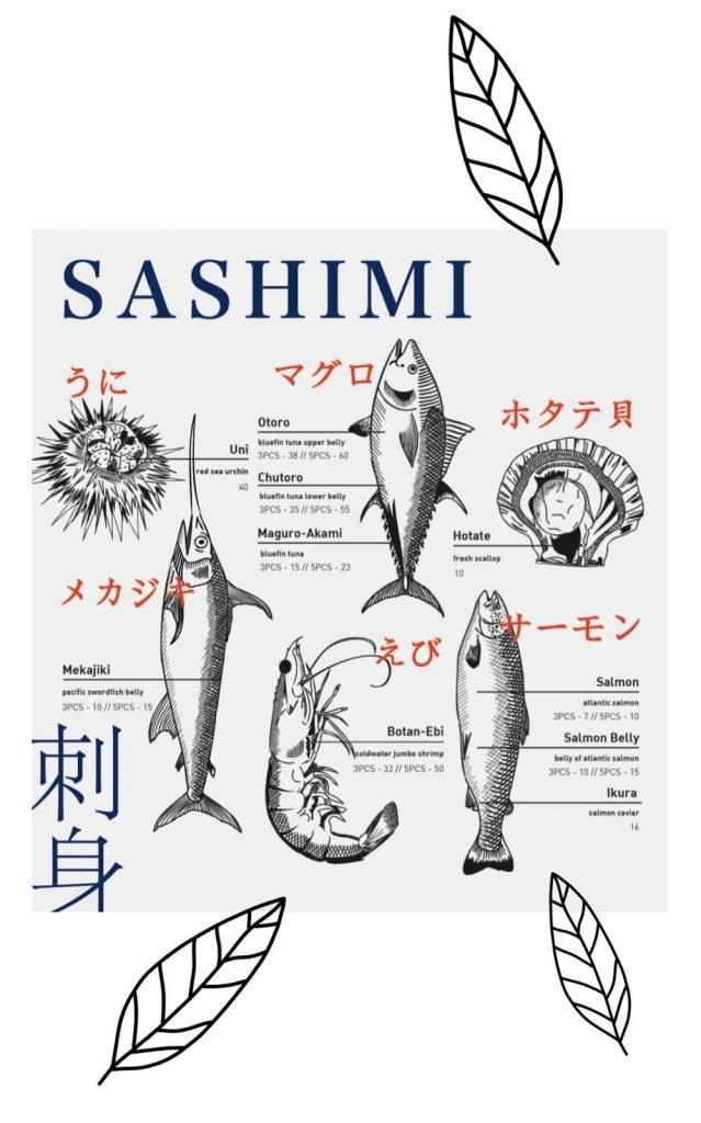 omote menu sashimi 2