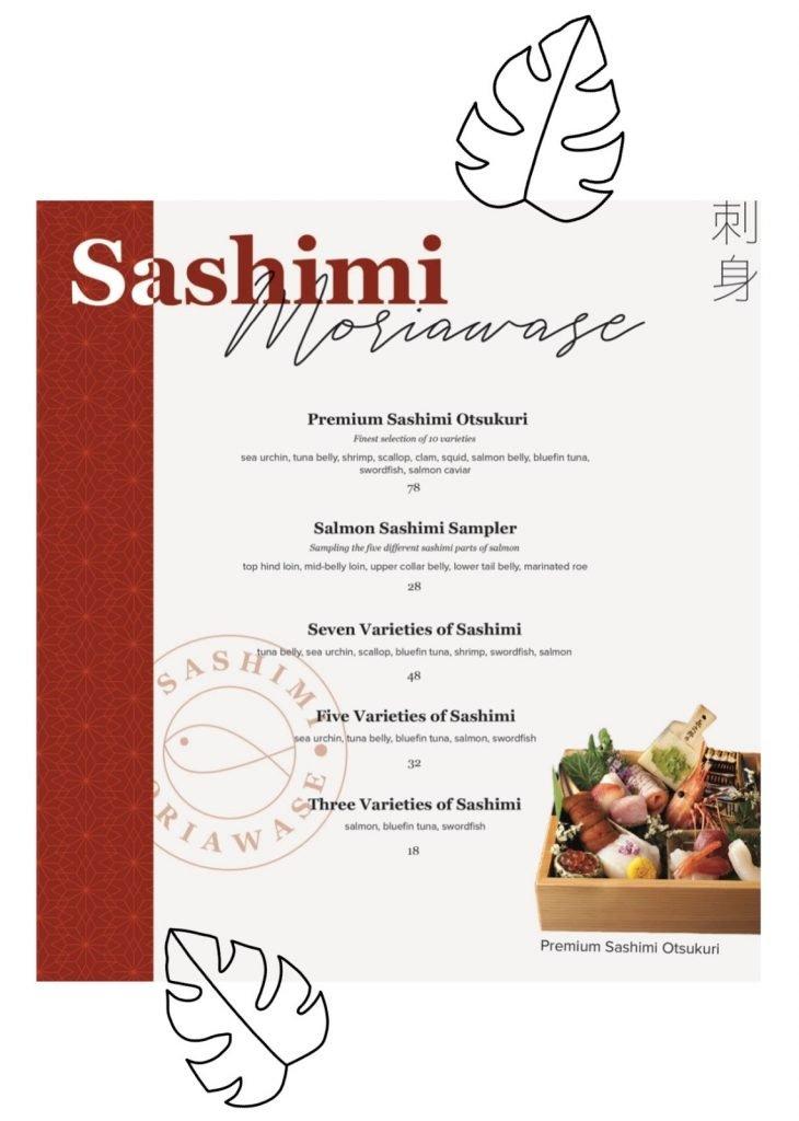 omote menu sashimi