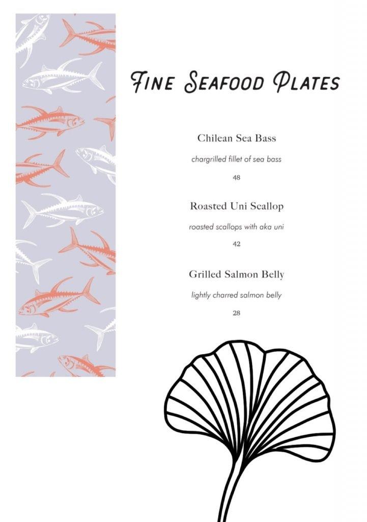 omote menu seafood plates