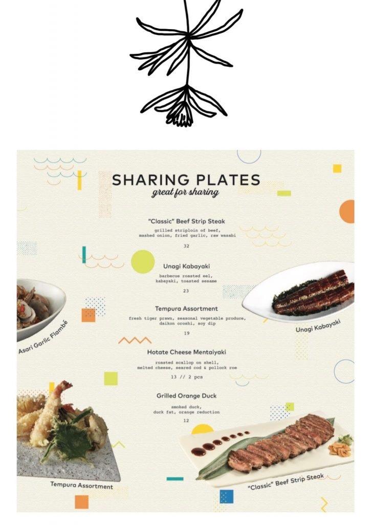 omote menu sharing plates 2