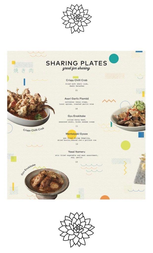 omote menu sharing plates
