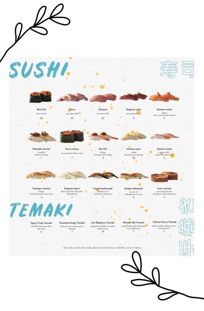omote menu sushi 2